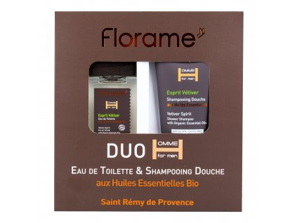 Sada dárková toaletní voda 100 ml a sprchový gel 200 ml pro muže Esprit Vetiver BIO   FLORAME