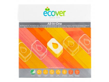 ECOVER  tablety do myčky All in One Nordic Swan 1,3 kg