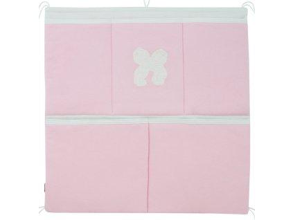 ESITO Kapsář na postýlku jednobarevný - 53 x 53 cm / růžová