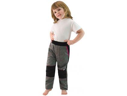 ESITO Dětské softshellové kalhoty  vel. 110 - 128 - růžová nebo tyrkysová