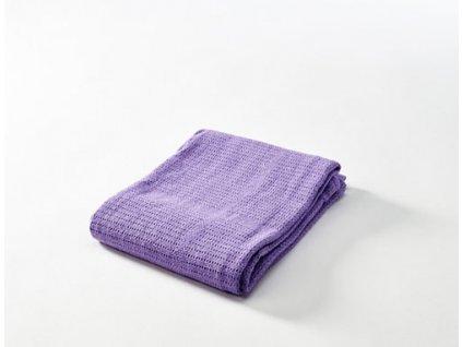 Baby Dan Dětská háčkovaná bavlněná deka Lila