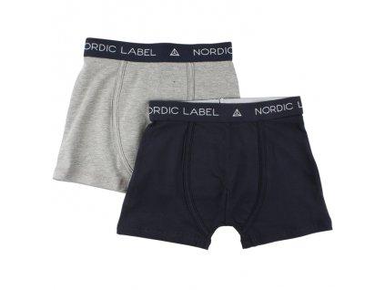 Chlapecké boxerky Nordic Label, navy/šedá - 2 ks