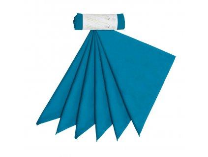 Kapesníky pánské – tealová modrá (36×36 cm) 6 ks