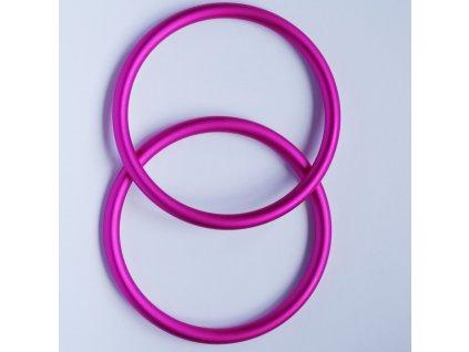 Ring Sling kroužky růžové tmavé  Ring sling kroužky na šátek Velikost RS: L - 1 ks