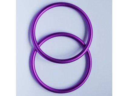 Ring Sling kroužky fialové  Ring sling kroužky na šátek Velikost RS: L - 1 ks