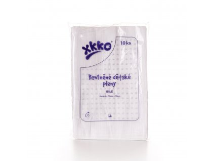 Dětské pleny XKKO Classic 70x70cm Bílé