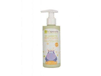 laSaponaria Jemný tělový a vlasový mycí gel pro děti BIO (190 ml)