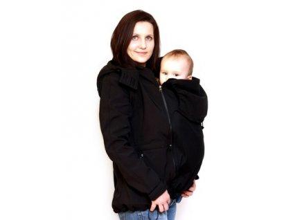 Softshellová nosící a těhotenská bunda 6v1, černá | Adelay
