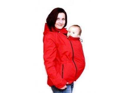 Softshellová nosící a těhotenská bunda 6v1, červená | Adelay