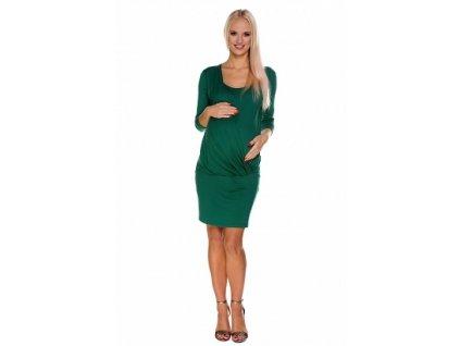 """Těhotenské a kojící šaty """"LINDA"""" - zelené - My Tummy"""