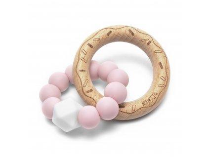 Silikonové kousátko Růžový donut
