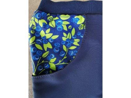 Letní kalhoty borůvky naše