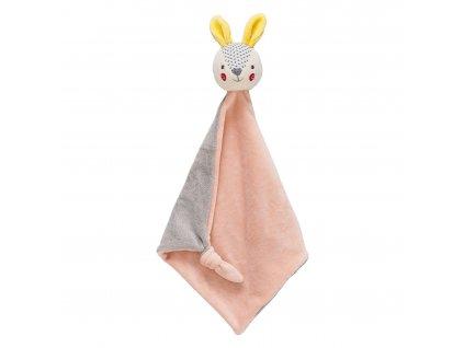 Petitcollage Usínáček zajíček růžový