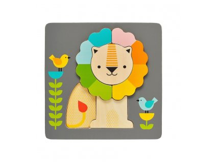 Petitcollage Dřevěné puzzle lev