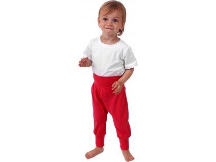 Dětské kalhoty baggy, lehké, lososově růžové, velikost