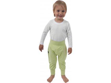 Dětské kalhoty baggy, lehké, světle zelené, velikost