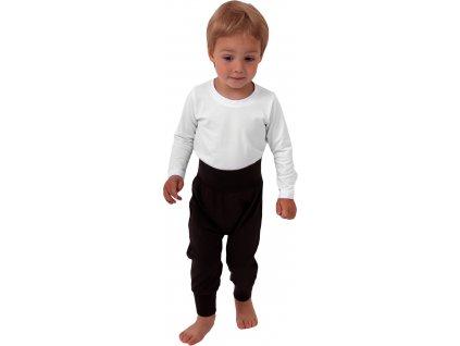 Dětské kalhoty baggy, lehké, černé, velikost