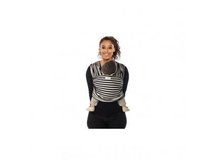 TRICOT-SLEN Design šátek na nošení dětí col. 606 black&white stripes