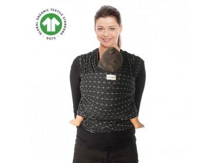 TRICOT-SLEN Design šátek na nošení dětí col. 608 black diamond