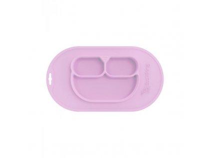 Jednodílná jídelní podložka silikon - Pink Levander