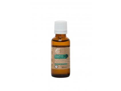 Šampon kopřivový svůní rozmarýnu a pomeranče (vzorek lahvička 30 ml)