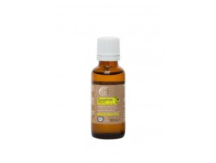 Šampon březový svůní citronové trávy (vzorek lahvička 30 ml)