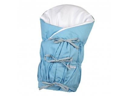 Little Angel Zavinovačka šněrovací pevná záda ANGEL - Outlast® - modrá/puntík šedý