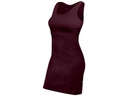 Kojicí šaty ELENA, bez rukávů, bordo