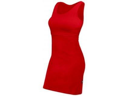 Kojicí šaty ELENA, bez rukávů, červené