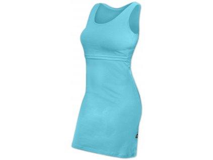 Kojicí šaty ELENA, bez rukávů, tyrkysové