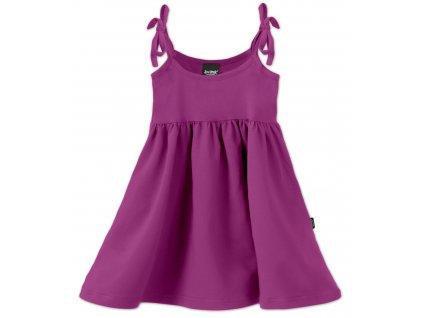 Dětské šaty, vázání na ramenou, cyklámen, velikost