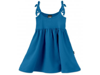 Dětské šaty, vázání na ramenou, tmavý tyrkys, velikost