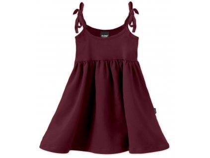 Dětské šaty, vázání na ramenou, bordo