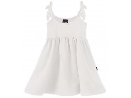 Dětské šaty, vázání na ramenou, smetanové, velikost