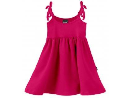 Dětské šaty, vázání na ramenou, sytě růžové, velikost