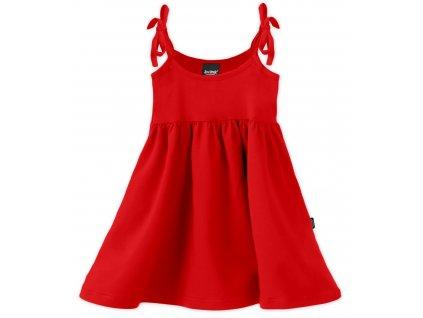 Dětské šaty, vázání na ramenou, červené, velikost