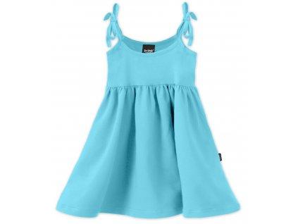 Dětské šaty, vázání na ramenou, tyrkysové, velikost