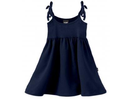 Dětské šaty, vázání na ramenou, tmavě modré, velikost