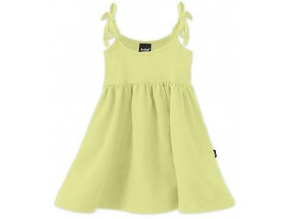 Dětské šaty, vázání na ramenou, světle zelené, velikost