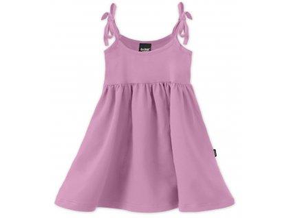 Dětské šaty, vázání na ramenou, fialkové, velikost