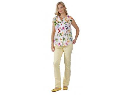 Těhotenské kalhoty Rialto Chicio žluté 1930 Dámská velikost: 42