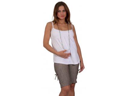 Těhotenské kraťasy Rialto Iwuy béžovočerný melír 0187 Dámská velikost: 40