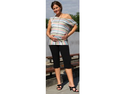 Těhotenské 3/4 kalhoty Rialto Inor černé 0188 Dámská velikost: 38