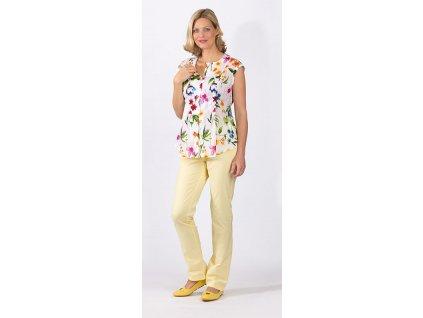 Těhotenská a kojící halenka Rialto Pier-T barevné květy 0306 Dámská velikost: 40
