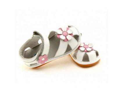 kozene sandale freycoo romana biele