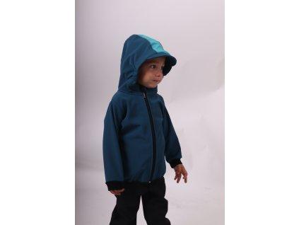 Dětská softshellová bunda, petrolejová, 98