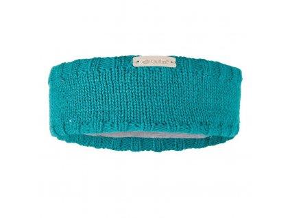 Little Angel Čelenka pletená hladká Outlast ® - zelená