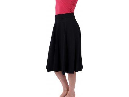 Midi sukně dámská i těhotenská, černá,