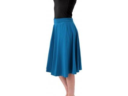 Midi sukně dámská i těhotenská, tmavý tyrkys,
