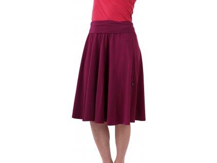 Midi sukně dámská i těhotenská, cyklámen,